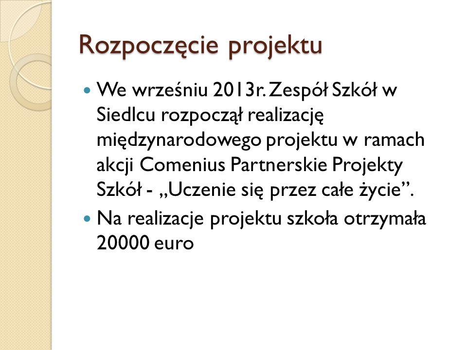 Rozpoczęcie projektu We wrześniu 2013r.