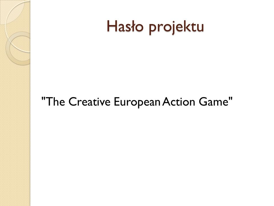 Hasło projektu