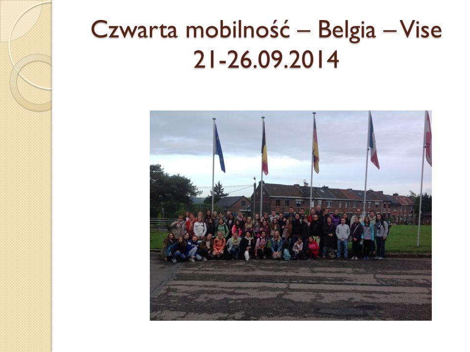 Czwarta mobilność – Belgia – Vise 21-26.09.2014