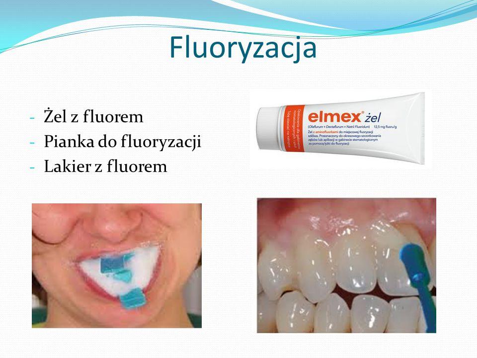 Fluoryzacja - Żel z fluorem - Pianka do fluoryzacji - Lakier z fluorem