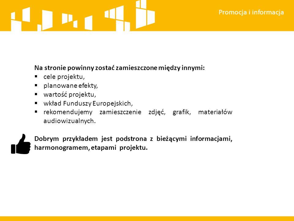 Promocja i informacja Każdy wymieniony wyżej element musi zawierać następujące znaki: 1.