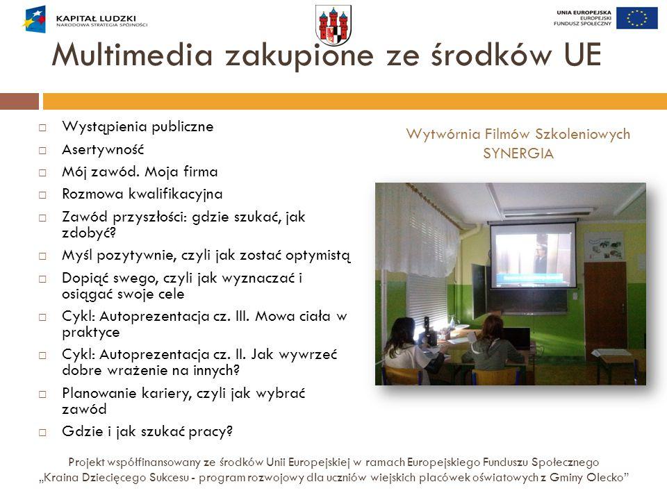 Multimedia zakupione ze środków UE  Wystąpienia publiczne  Asertywność  Mój zawód. Moja firma  Rozmowa kwalifikacyjna  Zawód przyszłości: gdzie s