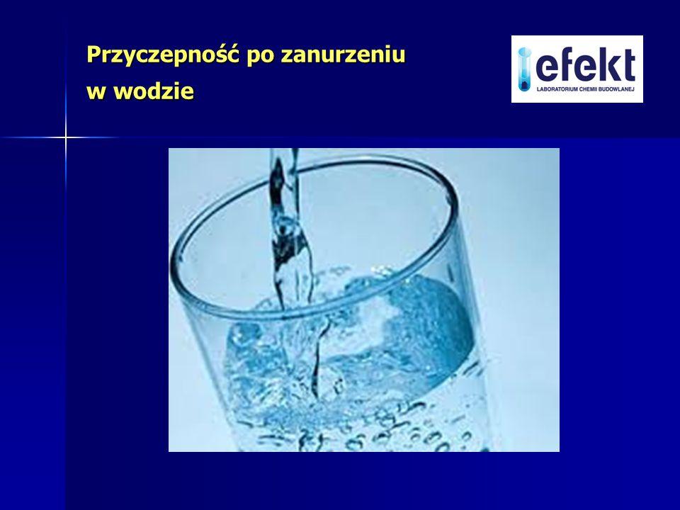 Przyczepność po zanurzeniu w wodzie