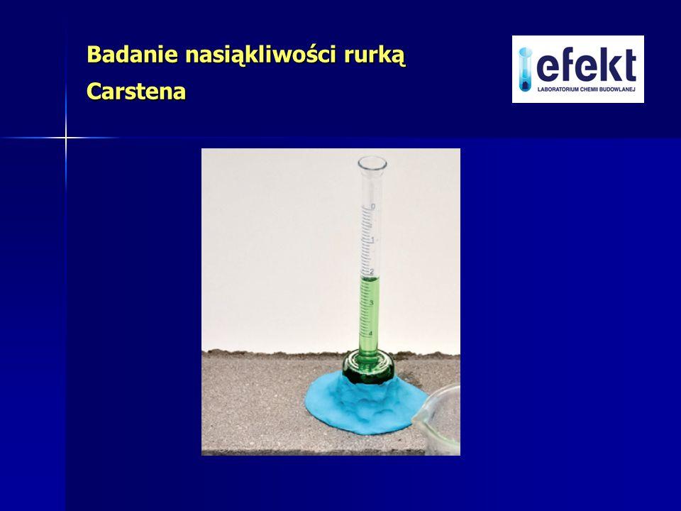 Badanie nasiąkliwości rurką Carstena