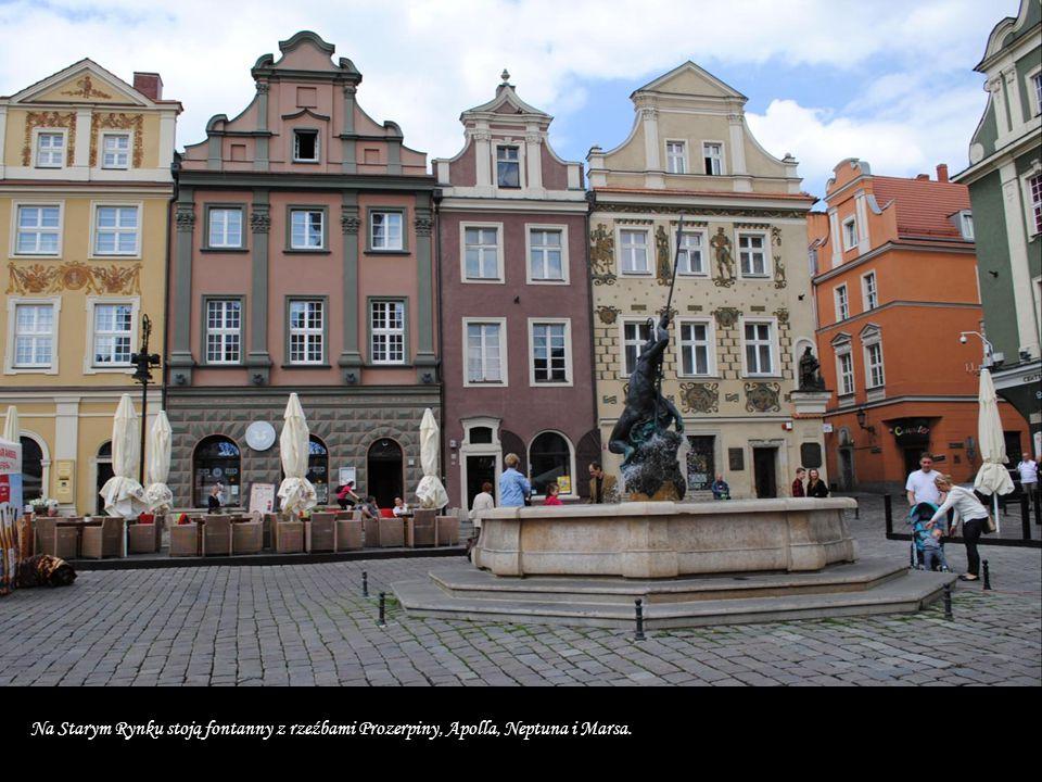 Na Starym Rynku stoją fontanny z rzeźbami Prozerpiny, Apolla, Neptuna i Marsa.
