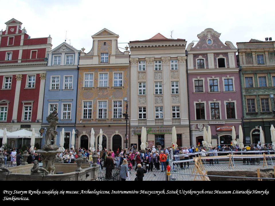 Przy Starym Rynku znajdują się muzea: Archeologiczne, Instrumentów Muzycznych, Sztuk Użytkowych oraz Muzeum Literackie Henryka Sienkiewicza.