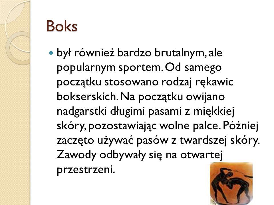 Boks był również bardzo brutalnym, ale popularnym sportem.