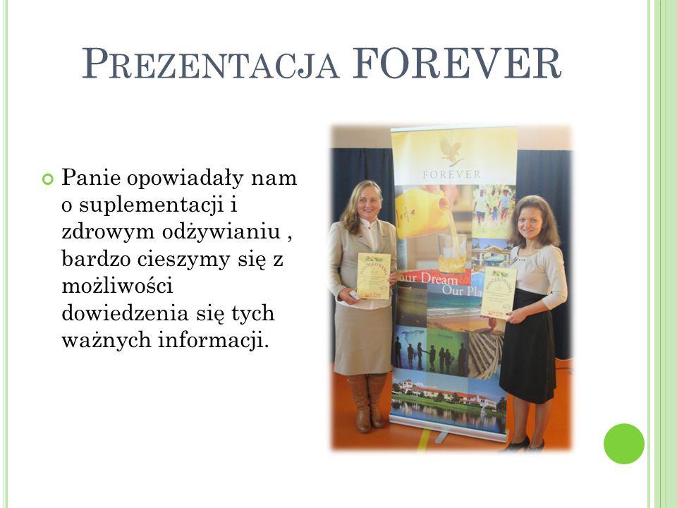 Panie opowiadały nam o suplementacji i zdrowym odżywianiu, bardzo cieszymy się z możliwości dowiedzenia się tych ważnych informacji.