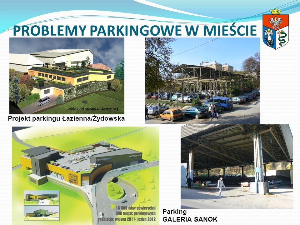 PROBLEMY PARKINGOWE W MIEŚCIE Projekt parkingu Łazienna/Żydowska Parking GALERIA SANOK