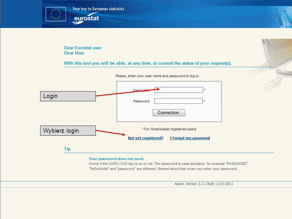 19-05-2011 Your free access to European statistics Login Wybierz login