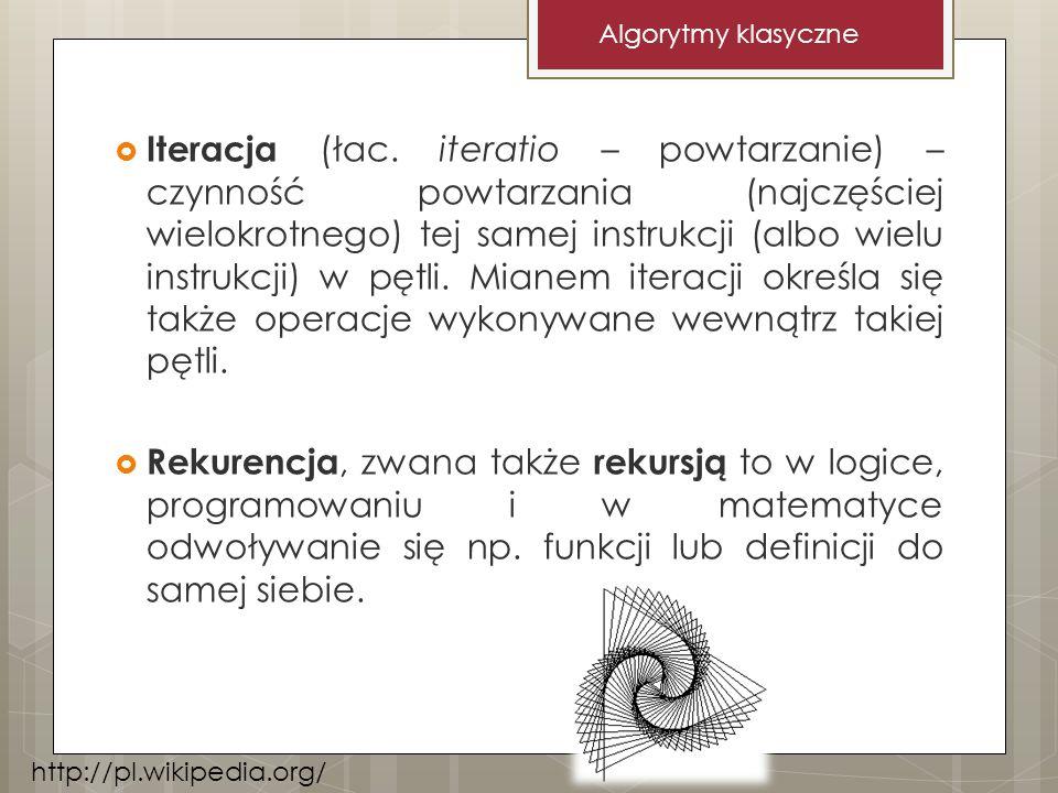 Iteracja (łac. iteratio – powtarzanie) – czynność powtarzania (najczęściej wielokrotnego) tej samej instrukcji (albo wielu instrukcji) w pętli. Mianem