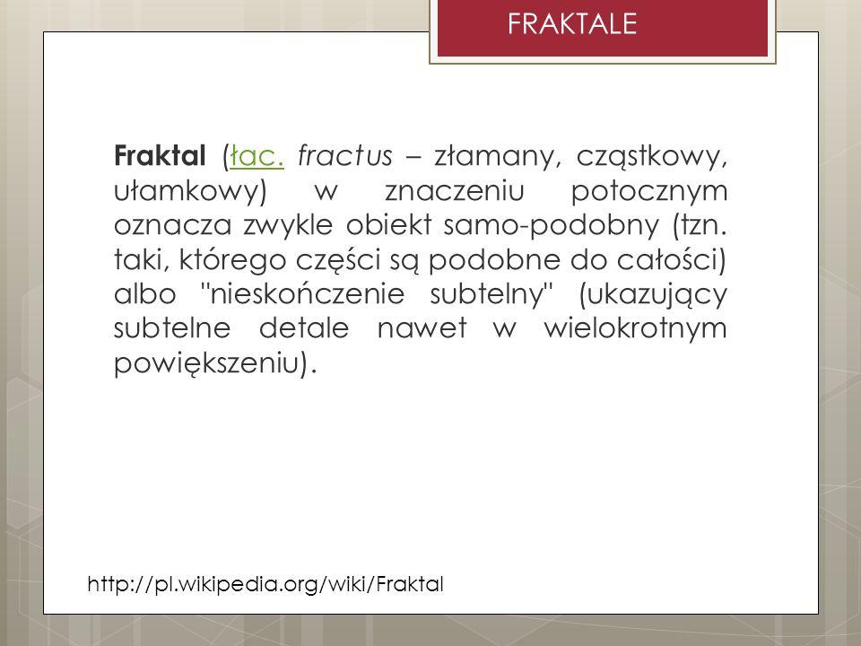 FRAKTALE http://wazniak.mimuw.edu.pl/index.php?title=Grafika:GKIW_M6_Slajd_28.png