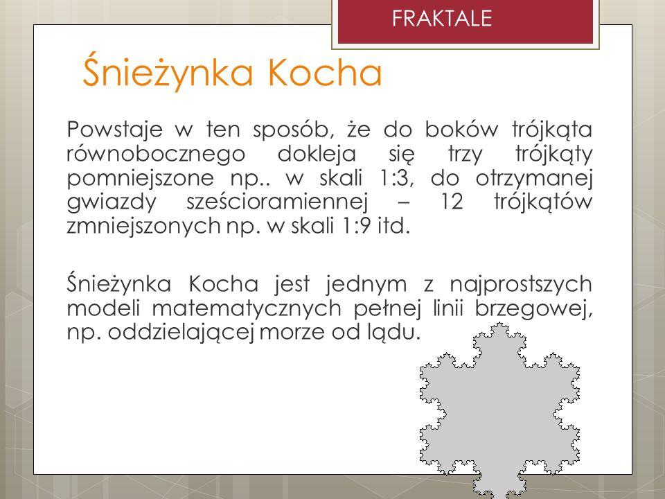 Śnieżynka Kocha http://talina.boo.pl/gimnazjum/fraktale/www/lubinski/platek.html