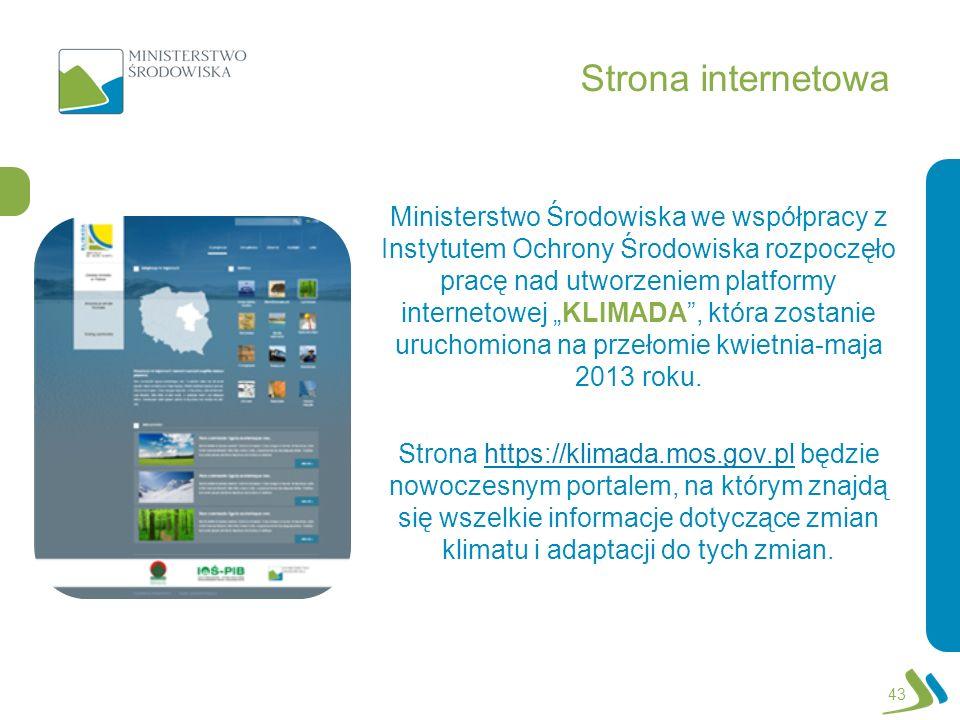 Strona internetowa Ministerstwo Środowiska we współpracy z Instytutem Ochrony Środowiska rozpoczęło pracę nad utworzeniem platformy internetowej KLIMA