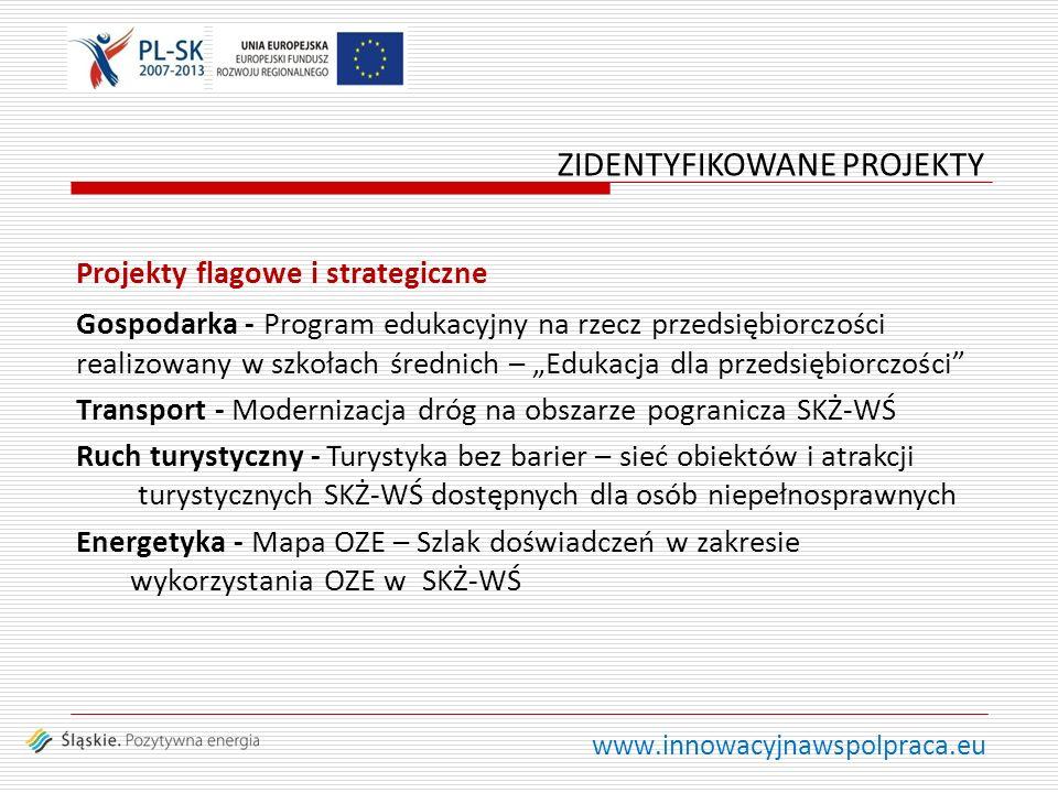www.innowacyjnawspolpraca.eu Projekty flagowe i strategiczne Gospodarka - Program edukacyjny na rzecz przedsiębiorczości realizowany w szkołach średni