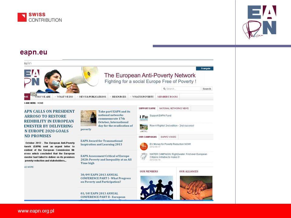 www.eapn.org.pl IDEA UTWORZENIA KOMITETU EAPN W POLSCE: 12 marca 2004 – spotkanie we WRZOS dot.