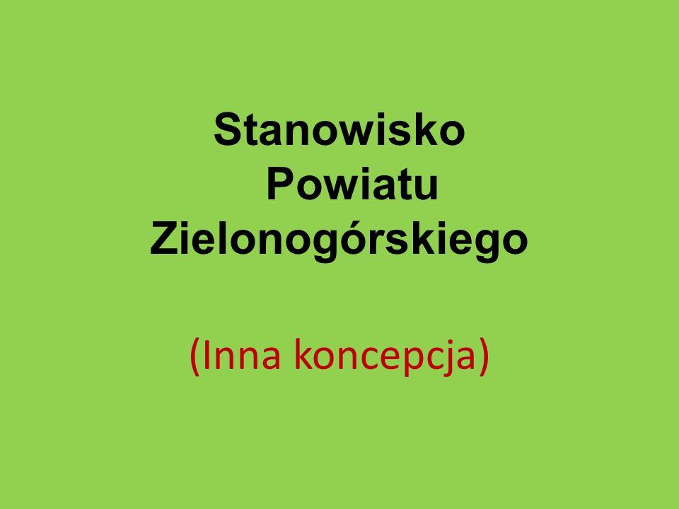 Stanowisko Powiatu Zielonogórskiego (Inna koncepcja)