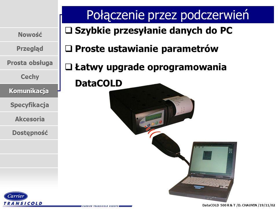 Nowość Przegląd Prosta obsługa Cechy Komunikacja Specyfikacja Akcesoria Dostępność DataCOLD 500 R & T /D.