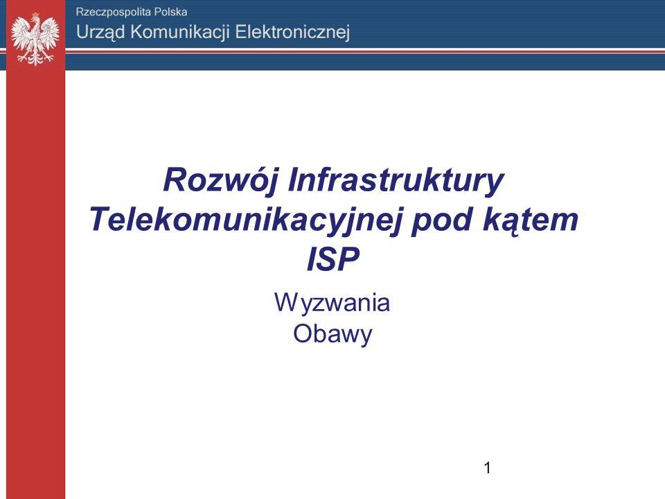 Rozwój Infrastruktury Telekomunikacyjnej pod kątem ISP Wyzwania Obawy 1