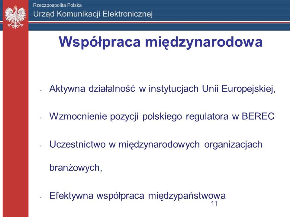 Współpraca międzynarodowa Aktywna działalność w instytucjach Unii Europejskiej, Wzmocnienie pozycji polskiego regulatora w BEREC Uczestnictwo w między