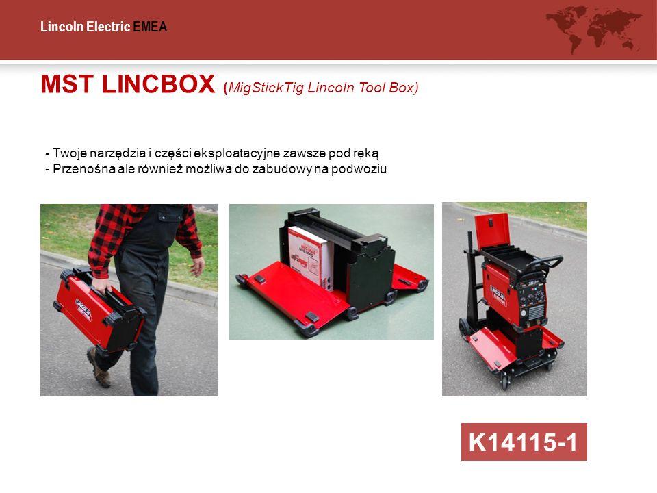 Lincoln Electric EMEA MST LINCBOX (MigStickTig Lincoln Tool Box) K14115-1 - Twoje narzędzia i części eksploatacyjne zawsze pod ręką - Przenośna ale ró