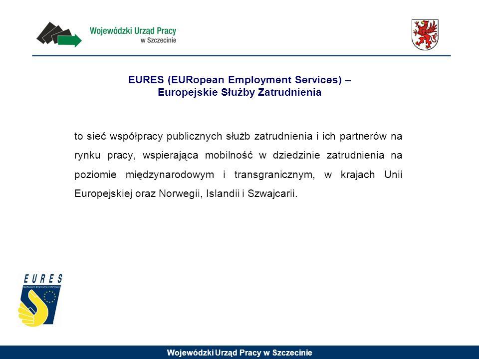 Wojewódzki Urząd Pracy w Szczecinie EURES (EURopean Employment Services) – Europejskie Służby Zatrudnienia to sieć współpracy publicznych służb zatrudnienia i ich partnerów na rynku pracy, wspierająca mobilność w dziedzinie zatrudnienia na poziomie międzynarodowym i transgranicznym, w krajach Unii Europejskiej oraz Norwegii, Islandii i Szwajcarii.