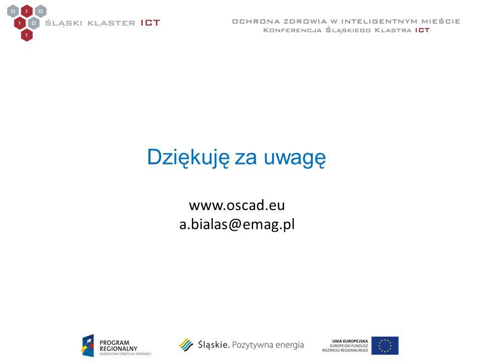 Dziękuję za uwagę www.oscad.eu a.bialas@emag.pl