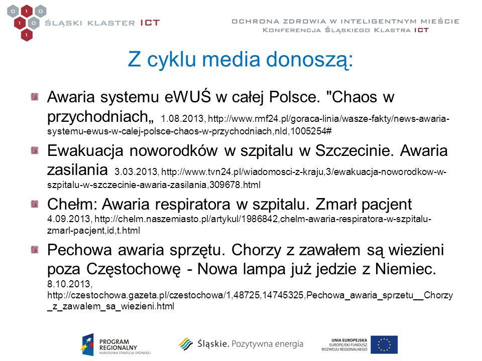 Z cyklu media donoszą: Awaria systemu eWUŚ w całej Polsce.