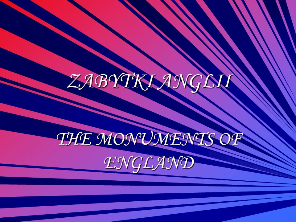 ZABYTKI WALII THE MONUMENTS OF WALES