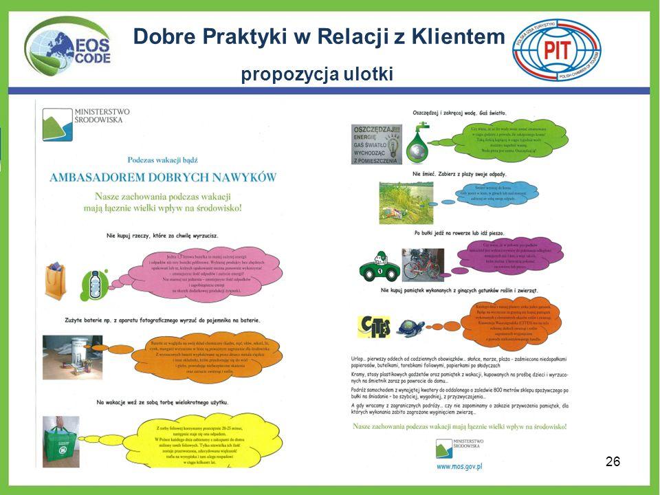 Dobre Praktyki w Relacji z Klientem propozycja ulotki 26