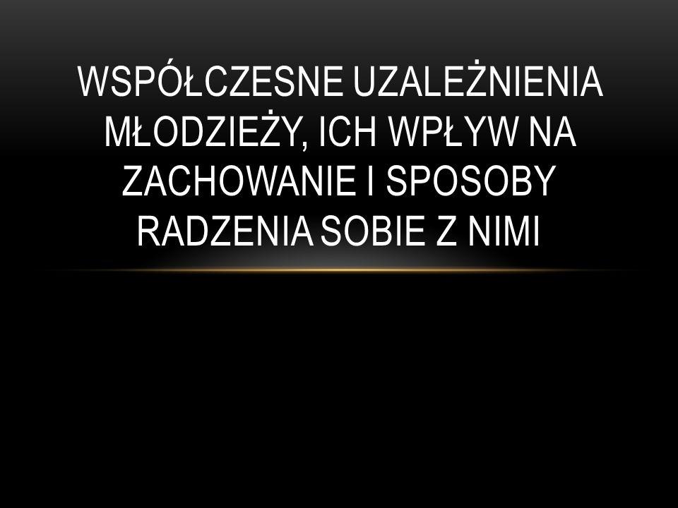 BIBLIOGRAFIA Marzena Pacek, Narkotyki przy tablicy, Warszawa 2000 narkomania.pl doplacze.info.pl odzyskajwolnosc.pl alkoholizm.eu zdrowie.med.pl leczenienarkomanii.moserwis.pl torun.kujawko-pomorskie.policja.gov.pl alkoholizm.wieszjak.pl wikipedia.pl Foto: internet