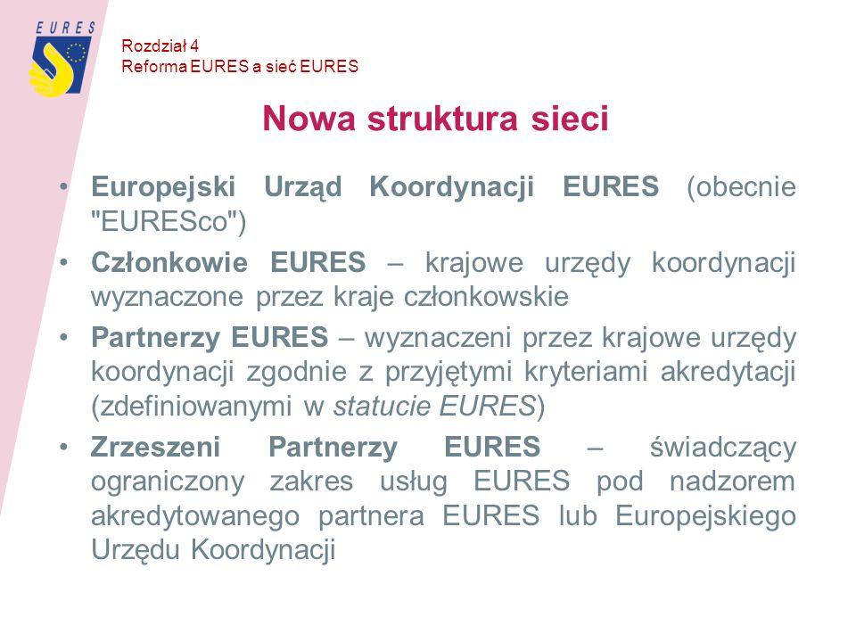 Nowa struktura sieci Europejski Urząd Koordynacji EURES (obecnie