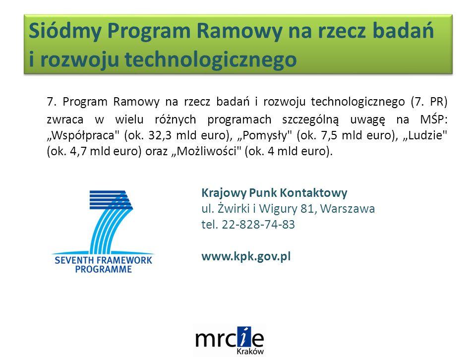 Siódmy Program Ramowy na rzecz badań i rozwoju technologicznego 7.