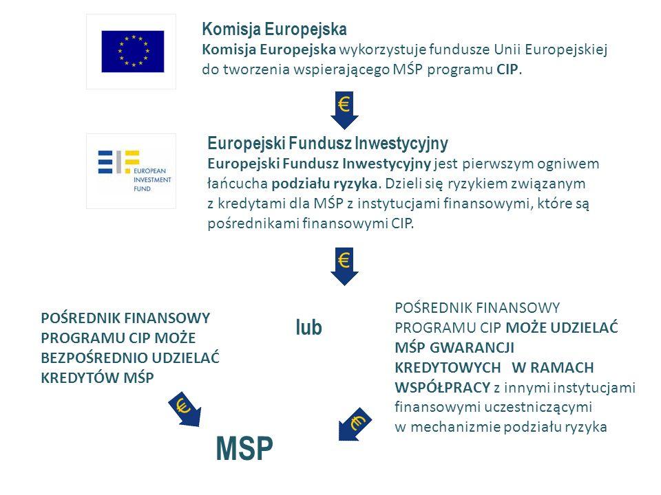Komisja Europejska Komisja Europejska wykorzystuje fundusze Unii Europejskiej do tworzenia wspierającego MŚP programu CIP.