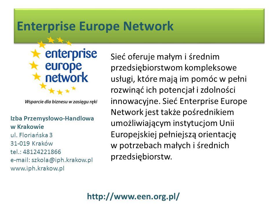 Enterprise Europe Network Sieć oferuje małym i średnim przedsiębiorstwom kompleksowe usługi, które mają im pomóc w pełni rozwinąć ich potencjał i zdolności innowacyjne.