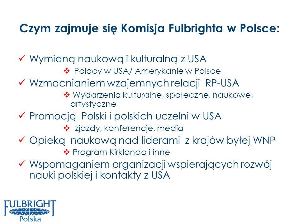Wymianą naukową i kulturalną z USA Polacy w USA/ Amerykanie w Polsce Wzmacnianiem wzajemnych relacji RP-USA Wydarzenia kulturalne, społeczne, naukowe,