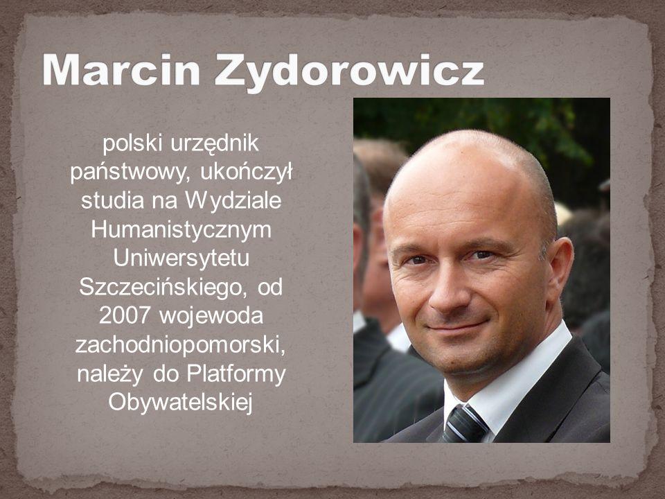 polski urzędnik państwowy, ukończył studia na Wydziale Humanistycznym Uniwersytetu Szczecińskiego, od 2007 wojewoda zachodniopomorski, należy do Platformy Obywatelskiej