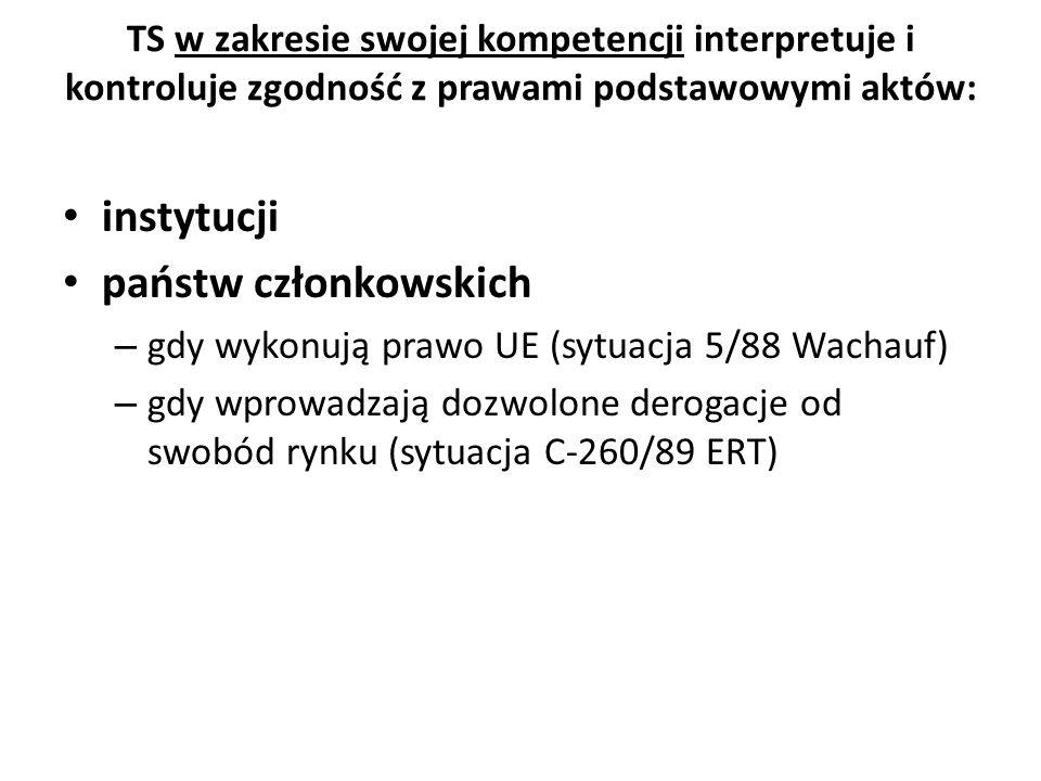 Karta jest bezpośrednio stosowana Sprawy połączone C 92/09 oraz C 93/09 Volker und Markus Schecke GbR Hartmut Eifert / wyrok 2011 45 Należy przypomnieć, że zgodnie z art.