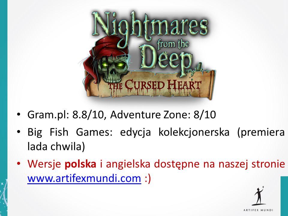 Gram.pl: 8.8/10, Adventure Zone: 8/10 Big Fish Games: edycja kolekcjonerska (premiera lada chwila) Wersje polska i angielska dostępne na naszej stroni