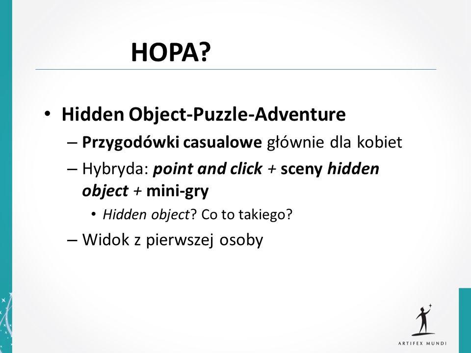 Hidden Object-Puzzle-Adventure – Przygodówki casualowe głównie dla kobiet – Hybryda: point and click + sceny hidden object + mini-gry Hidden object? C