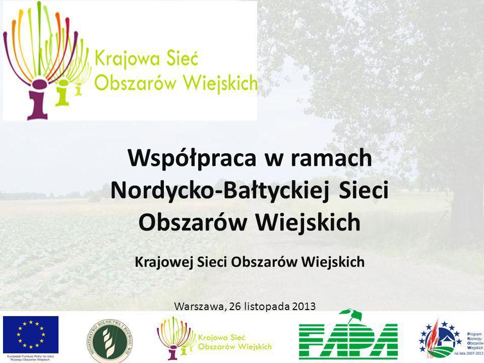 Warszawa, 26 listopada 2013 Współpraca w ramach Nordycko-Bałtyckiej Sieci Obszarów Wiejskich Krajowej Sieci Obszarów Wiejskich