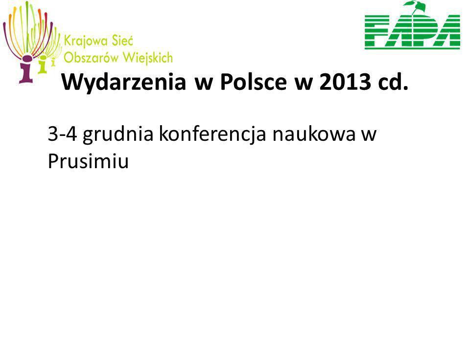 Wydarzenia w Polsce w 2013 cd. 3-4 grudnia konferencja naukowa w Prusimiu