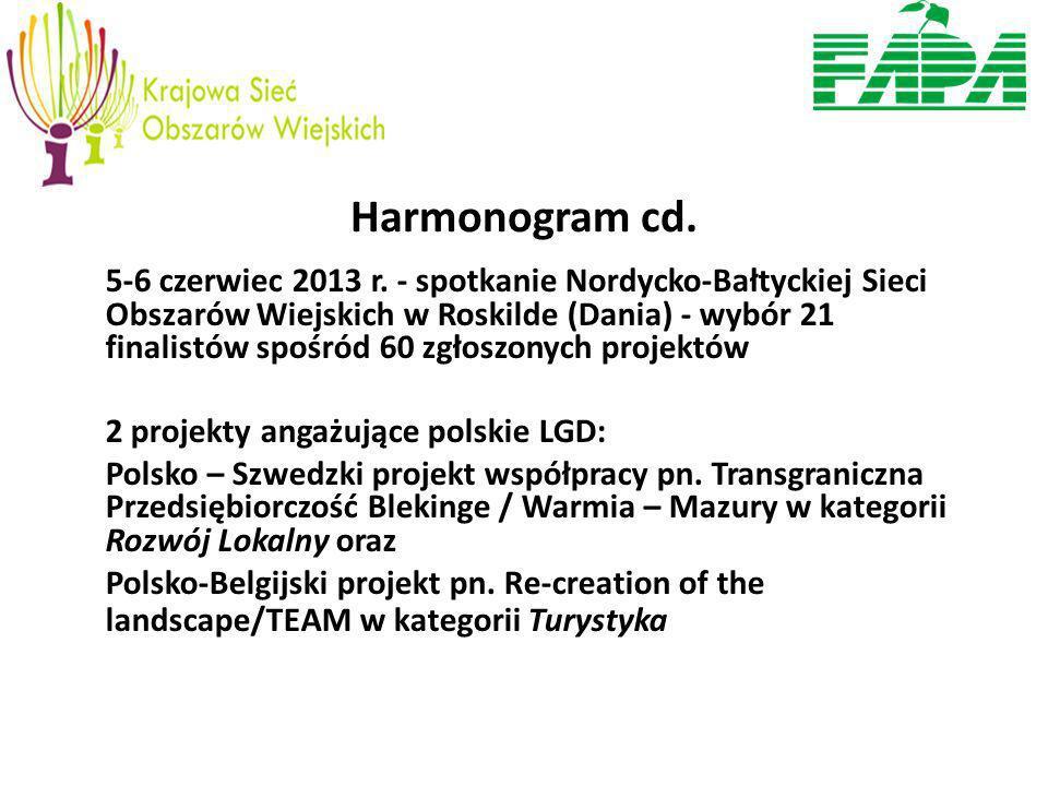 Harmonogram cd. 5-6 czerwiec 2013 r.