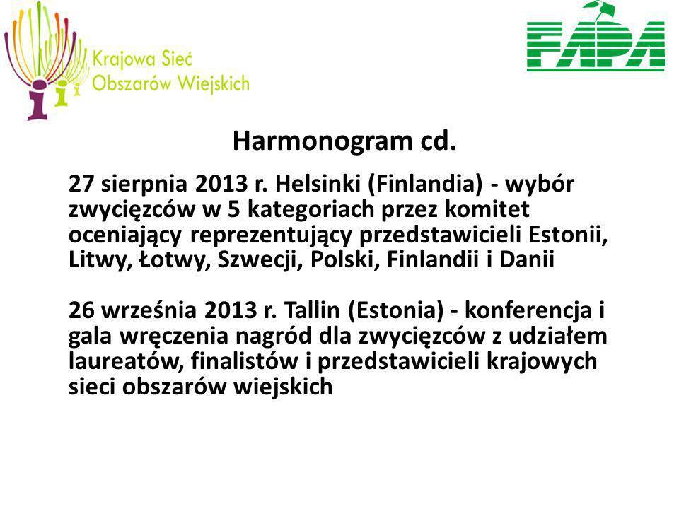 Harmonogram cd. 27 sierpnia 2013 r.
