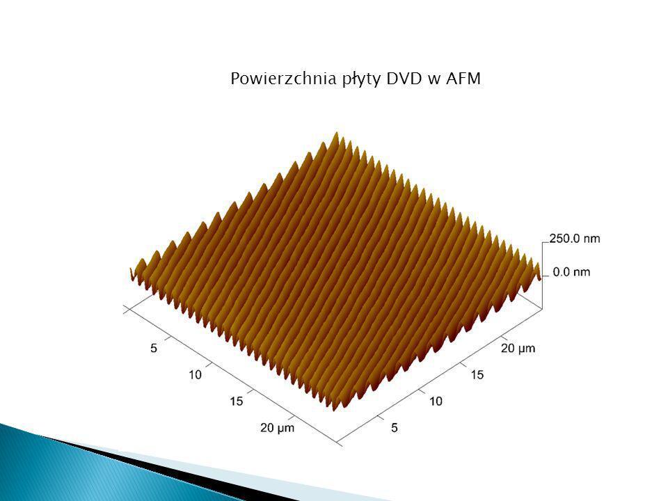 Powierzchnia płyty DVD w AFM