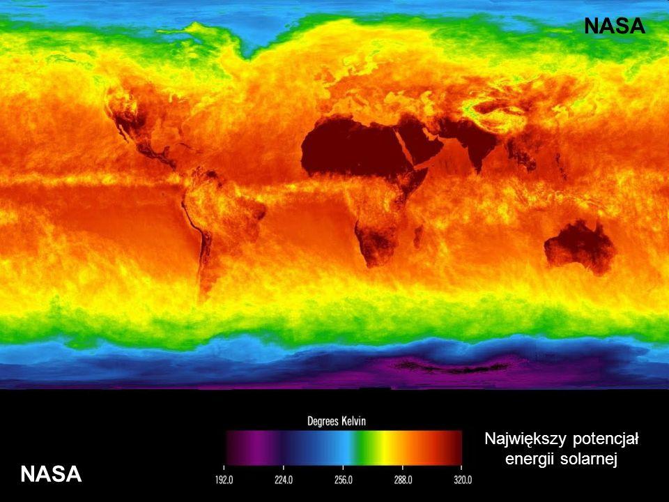 NASA Największy potencjał energii solarnej NASA