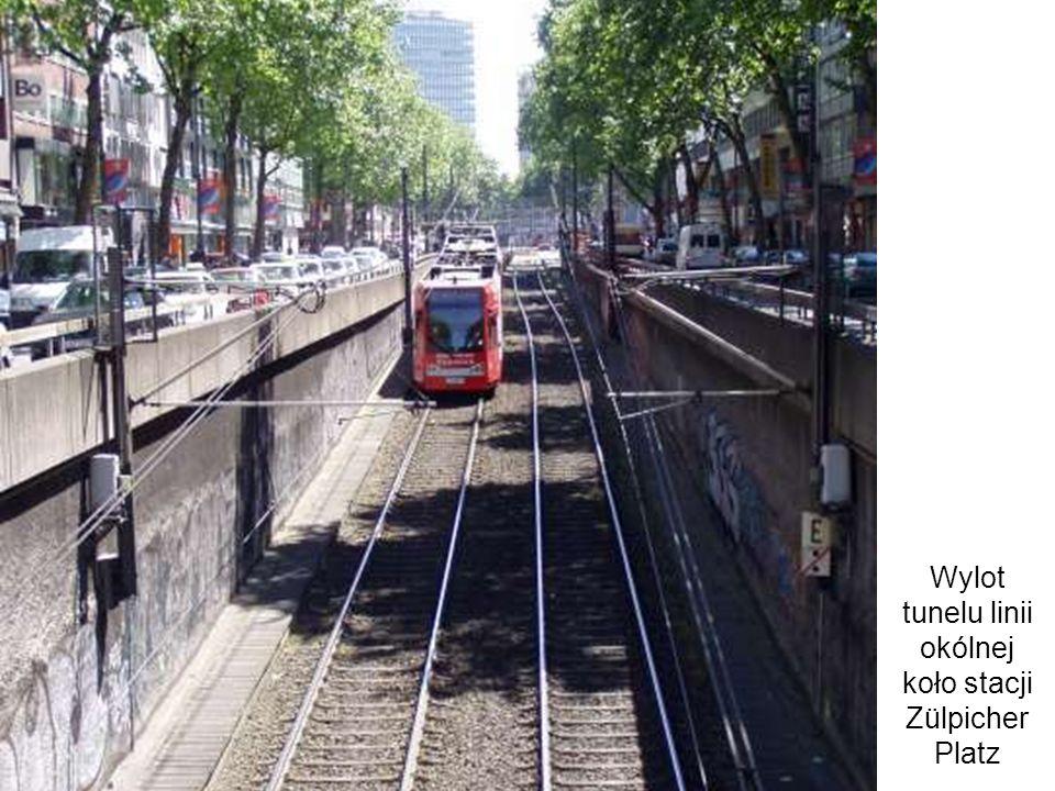 Wylot tunelu linii okólnej koło stacji Zülpicher Platz