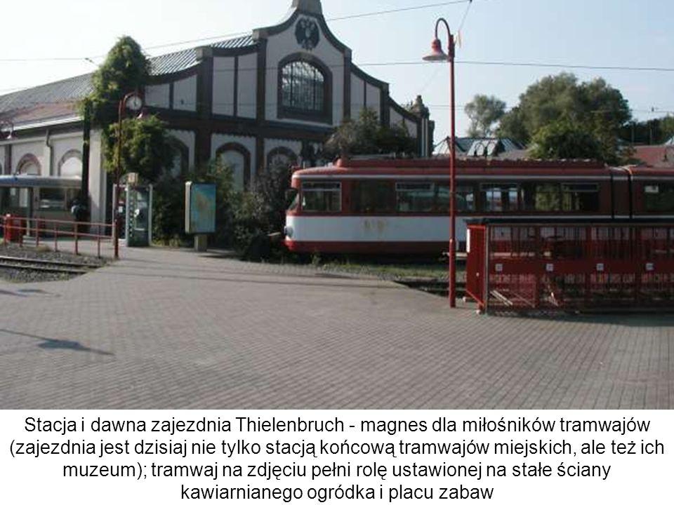 Stacja i dawna zajezdnia Thielenbruch - magnes dla miłośników tramwajów (zajezdnia jest dzisiaj nie tylko stacją końcową tramwajów miejskich, ale też