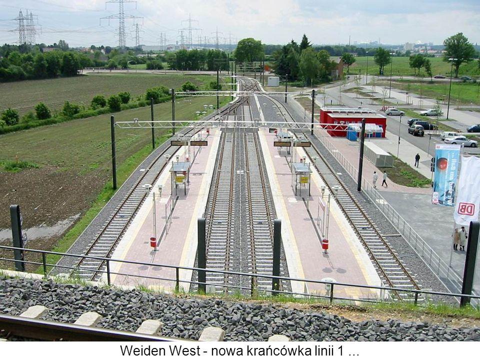 Weiden West - nowa krańcówka linii 1...