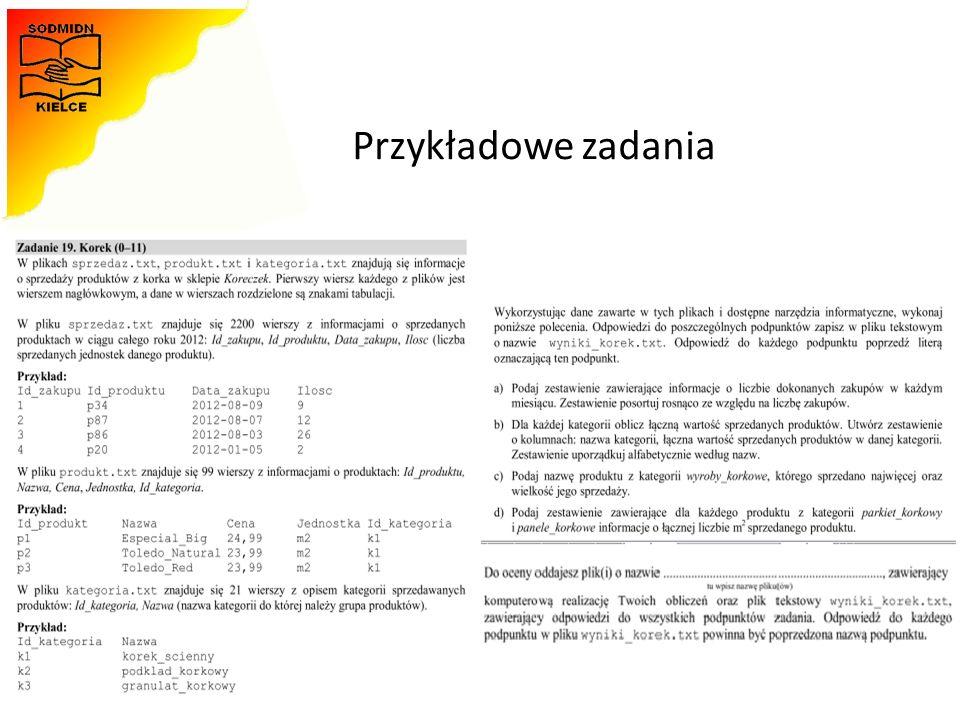 Materiały opracowała - Monika Zawadzka-Chłopek Przykładowe zadania 44